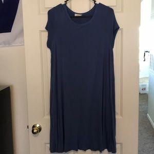 Blue tshirt dress 1x